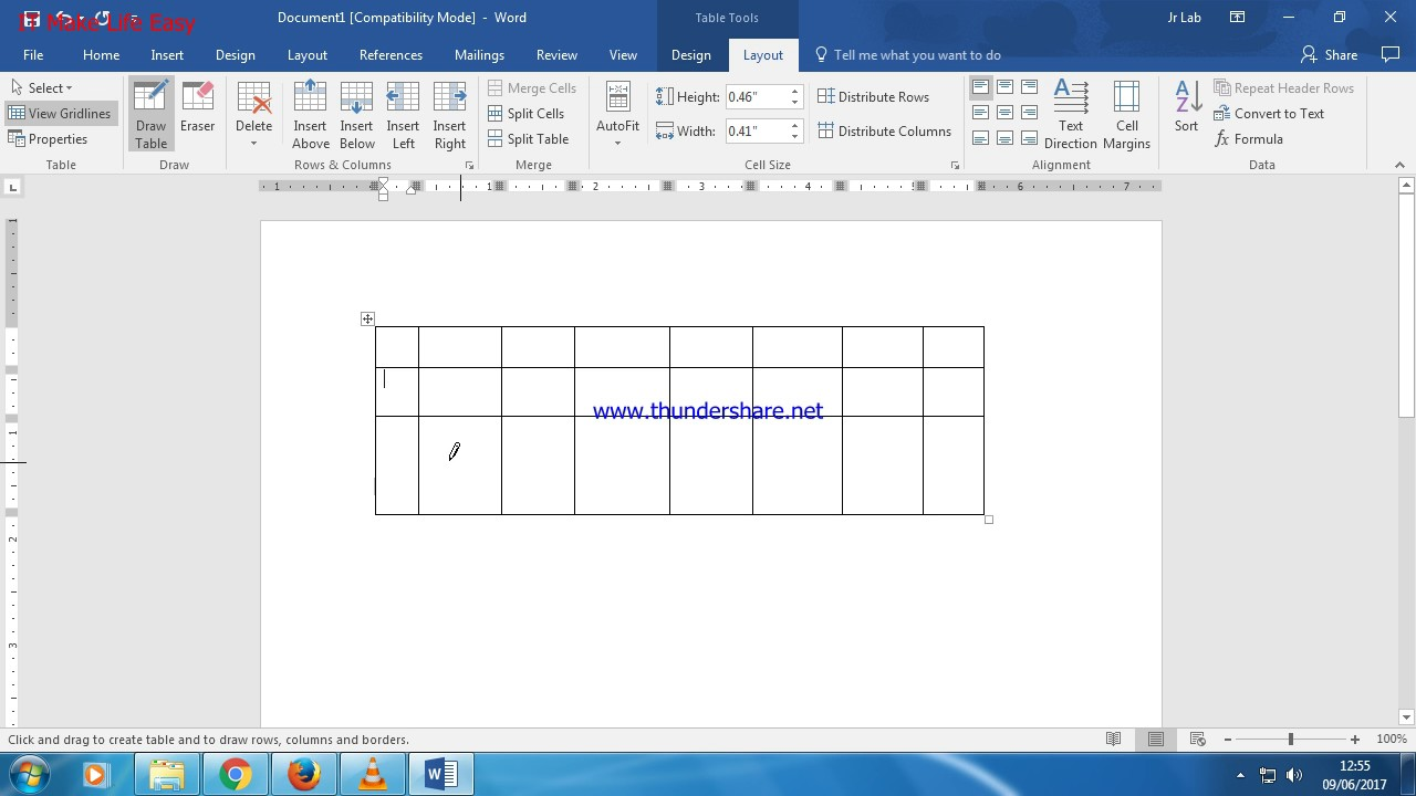 How to draw table in MS Word - YouTube
