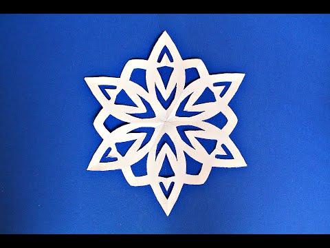DIY  Как сделать Снежинку из бумаги. Новогодние поделки из бумаги своими руками