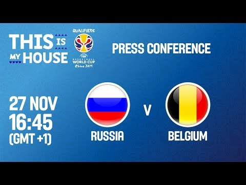 Russia v Belgium - Press Conference - FIBA Basketball World Cup 2019 - European Qualifiers