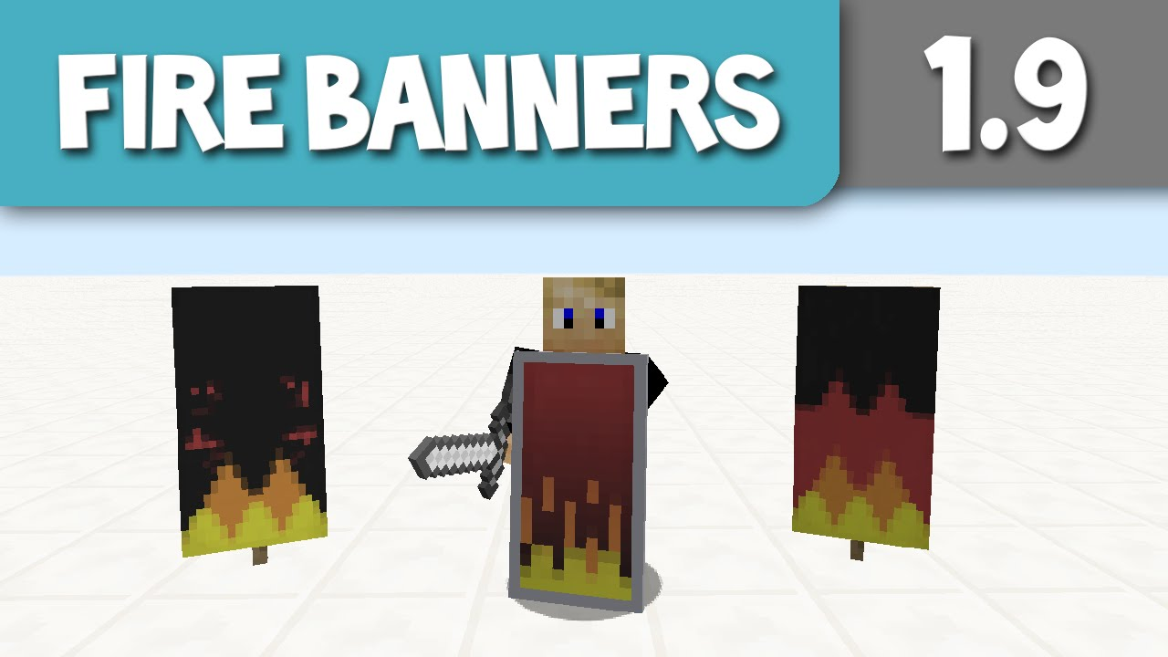 5 Fire Banner/ Shield Designs