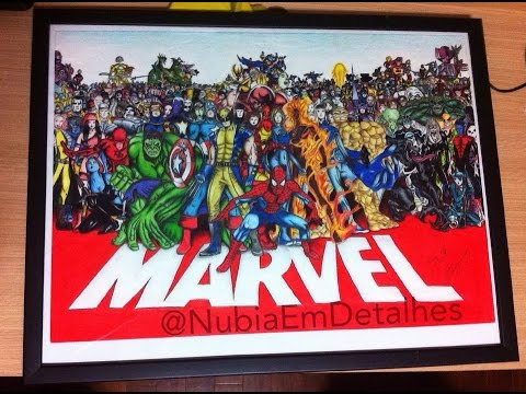 Drawing Marvel Heroes for my Dad by Nubia Em Detalhes