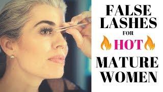FALSE LASHES FOR HOT MATURE WOMEN | Nikol Johnson