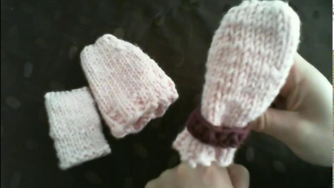 Handschuhe für Baby stricken Anleitung für Anfänger - YouTube