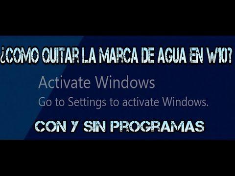 ¿Cómo quitar el mensaje de Activar windows? -…