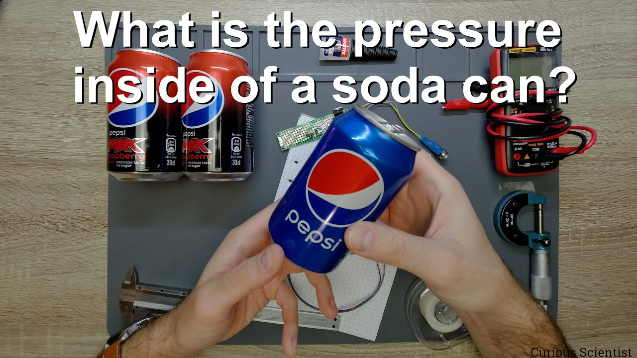 What is the pressure inside of a soda can?