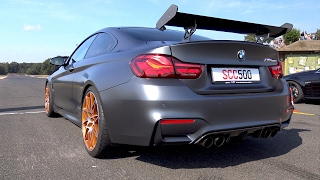 BMW M4 GTS in Action on the Drag Strip! REVS & DRAG RACING!