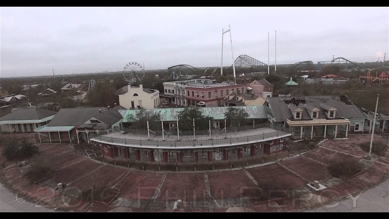 Six Flags Jazzland Six Flags New Orleans 2016 Aerials Youtube