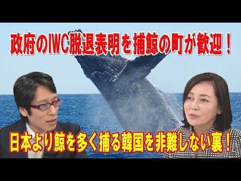 政府のIWC脱退表明を捕鯨の町が歓迎日本より鯨を多く捕る韓国を非難しない裏改めて浮き彫りになったIWCの機能不全有本香×竹田恒泰×居島一平