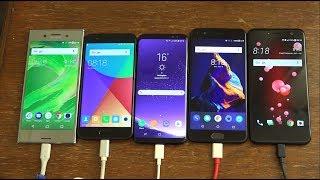 HTC U11 vs Galaxy S8 vs XZ Premium vs OnePlus 5 vs Xiaomi Mi6 - Battery Benchmark Test!