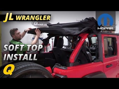 How to Install a Mopar Soft Top on a 2018 and up Jeep Wrangler JL Unlimited