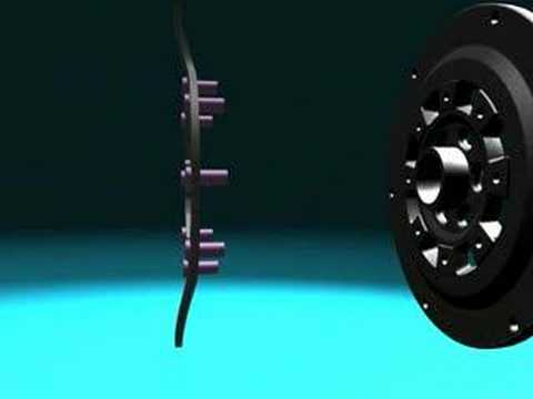 3D animation of dual mass flywheel