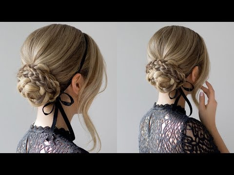 HOW TO: EASY BRAIDED UPDO | HOLIDAY HAIRSTYLES + GIVEAWAY thumbnail