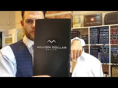 Million Dollar Collar Stays introduction video by bespoke English tailor before and after