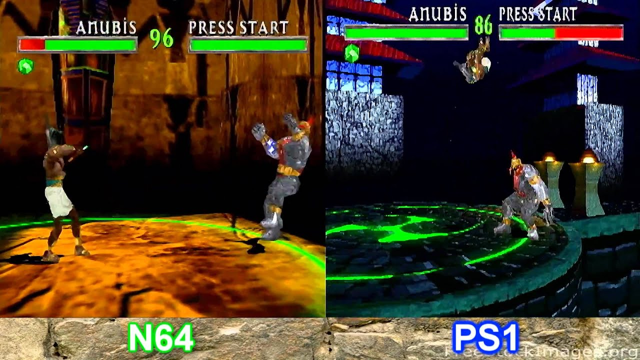 war gods comparison n64 and ps1 youtube