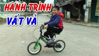 Bé DƯƠNG vất vả mang xe đạp từ nhà anh NAM về nhà❤Kênh Em Bé