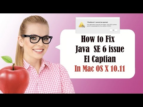 Mac El Capitán Fix - This Application Requires The Legacy Java SE 6 Runtime - CC