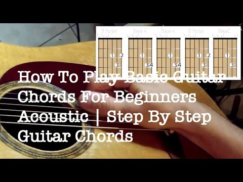 How To Play Basic Guitar Chords For Beginners Acoustic Step By