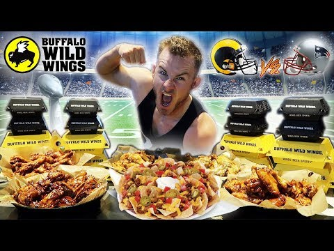 THE BUFFALO WILD WINGS SUPER BOWL CHALLENGE! (15,000+ CALORIES)