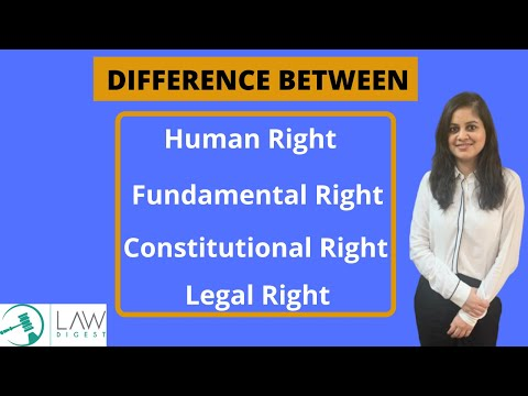Difference between Constitutional Rights, Legal Rights, Human & Fundamental Rights | DU LLB BHU CET