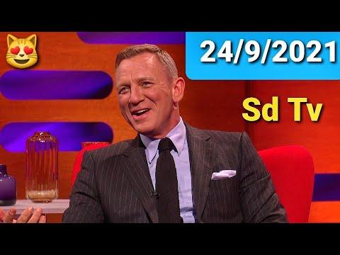 FULL Graham Norton Show 24/9/2021 Daniel Craig, Lea Seydoux, Lashana Lynch, Rami Malek, Ed Sheeran