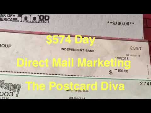 Direct Mail Marketing  EZ Profit 100  Postcard Tycoon American