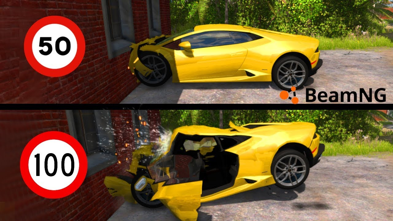 Crash Test Supercar Quale Resiste Beamng Drive