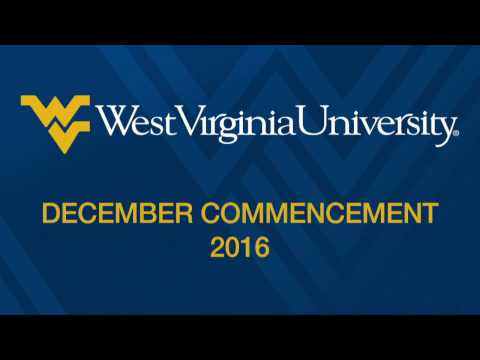 WVU December Commencement 2016