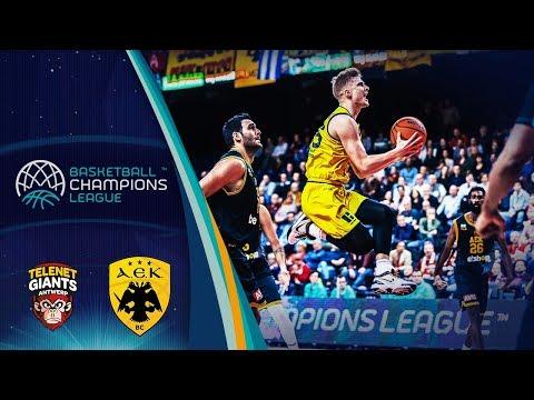 Telenet Giants Antwerp V Aek – Highlights – Basketball Champions League 2019-20