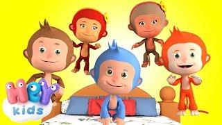 Pięć Małych Małpek - Piosenki Dla Dzieci po Polsku
