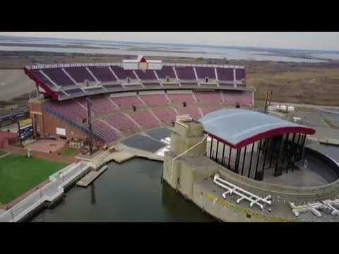 Jones Beach Theater Aerial Tour