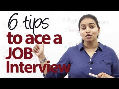 6 tips to ace a Job Interview - Job Interview Skills