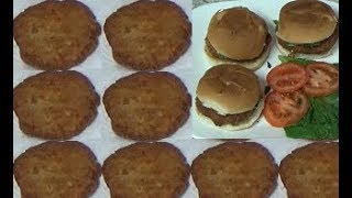 Kids special Chicken Patties Junior Burger recipe by easy cooking with Shazia.