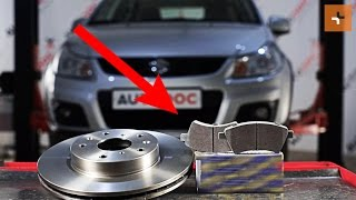 Guide: Sådan udskifter du bremseskiver foran, bremseklodser foran på SUZUKI SX4 1