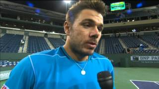 Wawrinka Reacts To Hewitt Win In Indian Wells