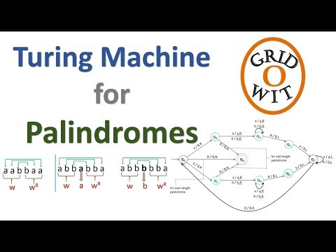 Turing Machine For Palindrome Youtube