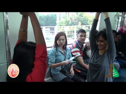 First time in Bangalore Metro Train - Yoga Flash Mob - International Day of Yoga