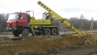 Tatra 815 UDS-214(Tatra 815 UDS-214 telescopic excavator leveling slopes Экскаватор-планировщик Tatra 815 UDS-214 формирует откосы ▽▽▽▽▽▽▽▽▽▽▽▽▽▽▽..., 2015-12-26T14:22:20.000Z)