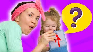 Examples of proper behavior for kids. Mom and girls show Examples of proper behavior at home