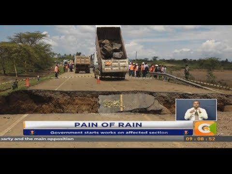 Flood waters cut off section of Narok -Mai...