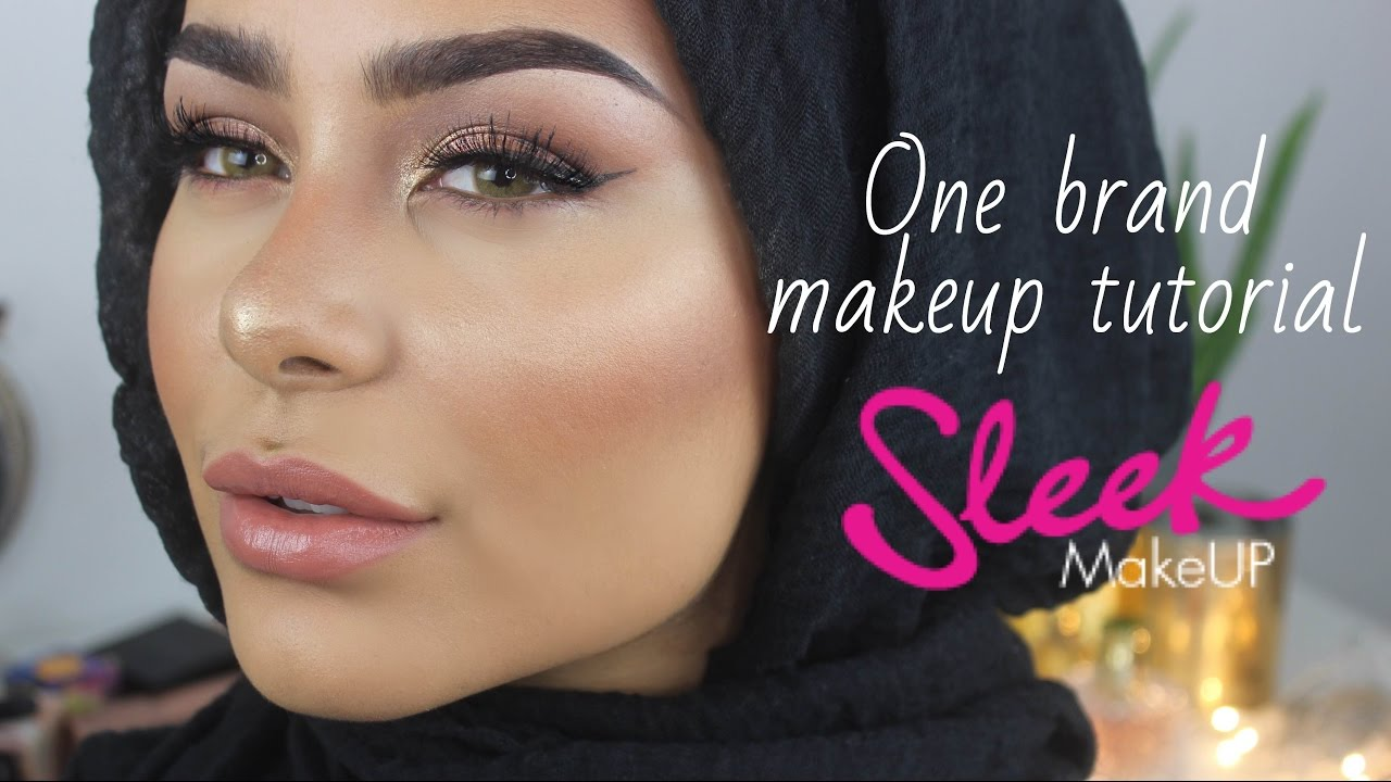 sleek makeup one brand makeup tutorial youtube