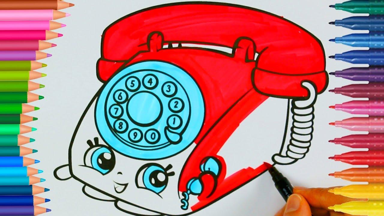 Shopkins Telefono Piccole Mani Libro Da Colorare Per Bambini Youtube