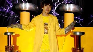 【Billie Eilish - bad guy】3,000,000Vの雷で演奏してみた!