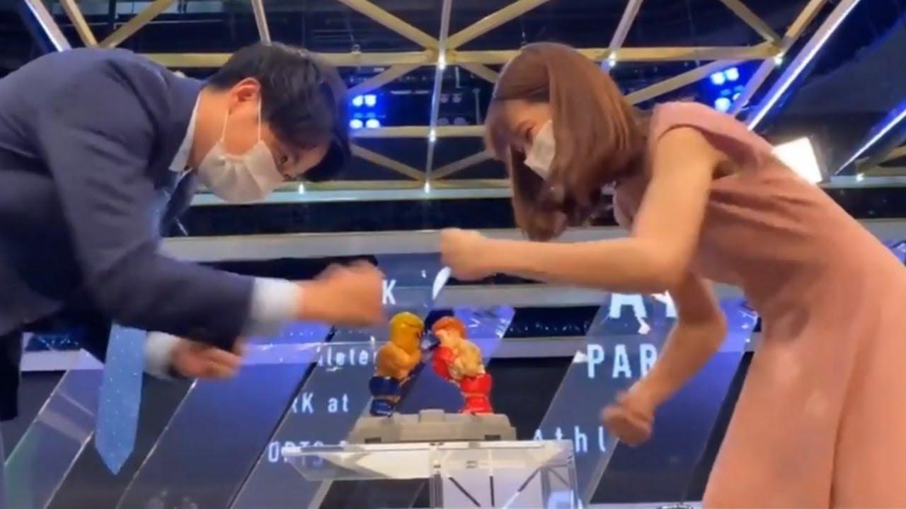 鈴木唯アナと黒瀬アナのガチンコボクシング対決!
