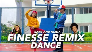 Download Lagu FINESSE (Remix) - Bruno Mars ft Cardi B Dance | Ranz and Niana Mp3