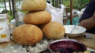выпекаем хлеб в карельской тайге. Выживание.