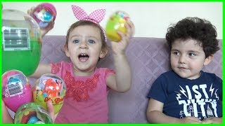 Yusuf ve Irmakla Sürpriz Yumurta Açtık | Learn Colors with Surprise Eggs