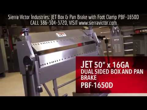 Sierra Victor Machinery: JET Dual Sided Box & Pan Brake with Foot Clamp PBF-1650D