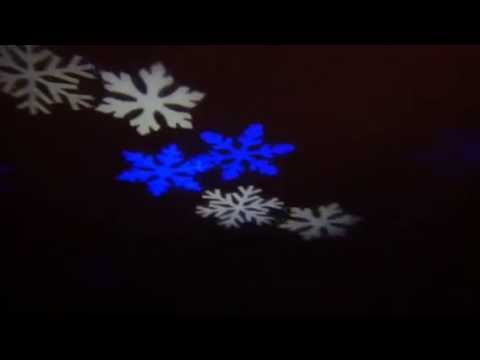 Rotating LED Projector Spot Light Bulb Snowflakes