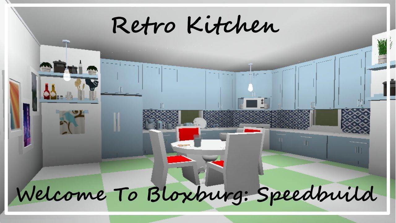 Robloxbloxburg Kitchen Revamp Tour Youtube Kitchen Roblox Bloxburg Retro Kitchen Speedbuild Youtube