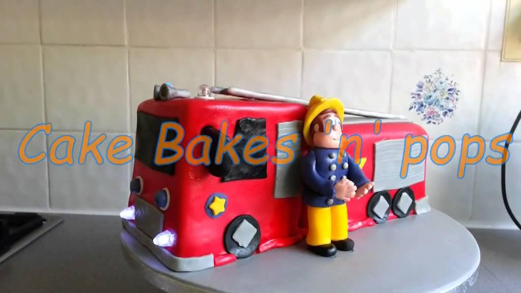 Fireman Sam cake - YouTube